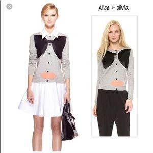 Alice + Olivia Stace Face appliqué cardigan S